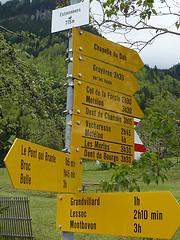 Panneaux jaunes