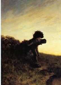 Giovanni Segantini - The last effort of the day